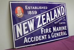 New Zealand Insurance co Ltd Enamel Sign