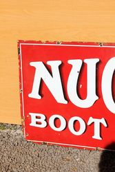 Nugget Boot Polish Enamel Advertising Sign