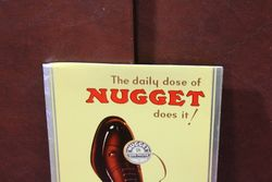 Nugget Shoe Polish Tin Advertising Card