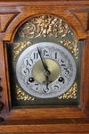 Oak 8 Day Mantle Brass Faced Clock