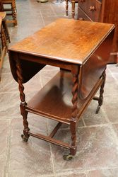 Oak DropSided Teatrolley C1920