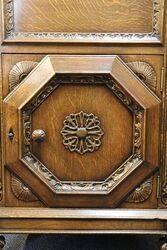 Oak LiftUp Drinks Cabinet