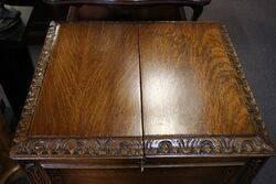 Oak Lift Up Drinks Cabinet