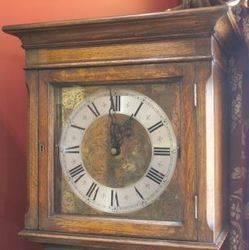 Oak Long Case Clock with Glazed Door