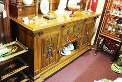 Oak Mirror Back Sideboard  English  C1890