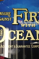 Ocean Insurance Glass Advertising Sign