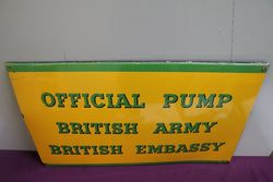 Official Pump British Army British Embassy Enamel Sign