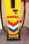 Older Restoration Woodward Manual Petrol Pump In Ampol Livery