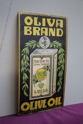 Oliva Brand Advertising Cardboard Sign