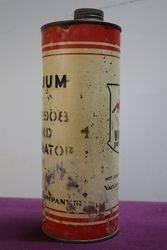 One Quart Vacuum Oil Tin