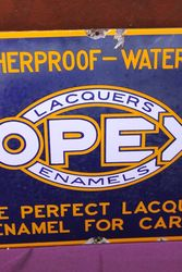 Opex Enamel Advertisingac Sign