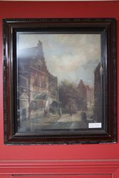 Original 19th Century Dutch Oil Painting In Moulded Frame