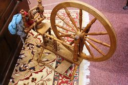 Original And Working Wool Spinning Wheel