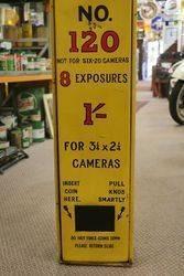 Original Kodak film Wall Dispenser Coin Operated Station