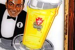 Original Phenix Beer Glass Adv Pub Sign