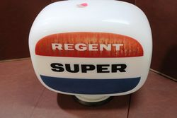 Original Regent Super Glass Petrol Pump Globe