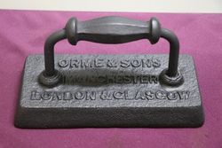Orme and Sons Cast Iron BilliardSnooker Table Iron