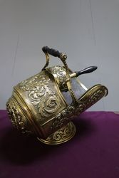 Outstanding Quality Victorian Pressed Brass Coal Scuttle