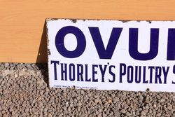 Ovum Thorleys Enamel Advertising Sign