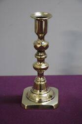 Pair Of Antique Brass Candlestick