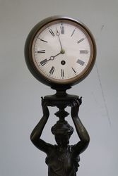 Pair Of Bronze Figure Clock and Barometer on Marble