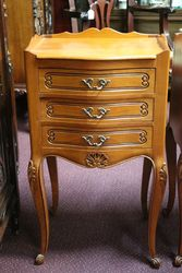 Pair Of C20th Serpentine Front Bedside Cabinets