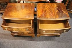 Pair Of Mahogany Bedside Cabinets with 3 Drawers