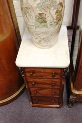 Pair Of Marble Top Bedside Drawers