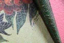 Pair Of Toleware Painted Plaques By TMaynard C1920