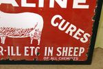 Pair of Antique Farming Cataline Enamel Pictorial Signs