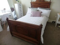 Pair of Antique French King Size Single Beds