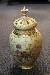 Pair of Large Royal Worcester Potpourri Vases
