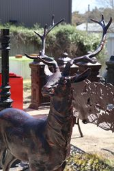 Pair of Quality Deer Garden Figures