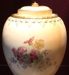 Pair of Royal Worcester Lidded Urns
