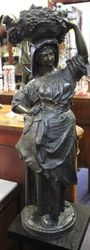 Pair of Spelter Figures Signed A Carrier