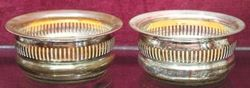 Pair of Victorian Silverplated Wine Bottle Coasters