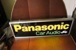 Panasonic Car Audio LED Light Up Sign