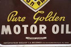 Paragold Motor Oil Tin Advertising Sign