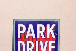 Park Drive Cigarettes Enamel Advertising Sign