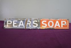 Pears Soap Enamel Advertising Sign