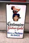 Pecheur FisherGold Beer Pictorial Enamel SignArriving Nov