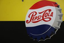 Pepsi Cola Tin Advertising Sign
