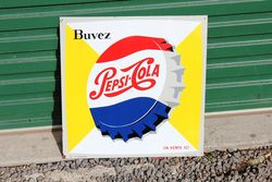 Pepsi Tin Advertising Sign