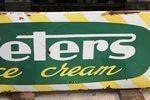 Peters Ice Cream Enamel Advertising Sign