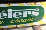Peters Ice Cream Enamel Advertising Sign