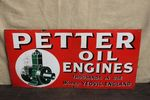 Petter Oil Engines Pictorial Enamel Sign