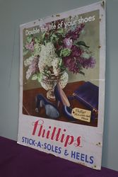 Philips Sticka Soles and Heels Card Advertising Sign