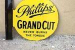 Phillips Grand Cut Tobacco Post Mount Enamel Sign