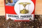 Phoebus Lamps Convex Enamel Advertising Sign