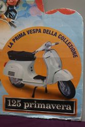 Piaggio Vespa Pictorial Cardboard Advertising Sign